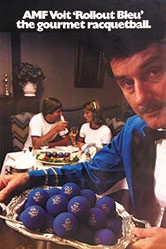 Hoppe Stone Douglas - AMF Voit - Rollout Bleu Racquetball