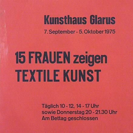 Anonym - 15 Frauen zeigen textile Kunst