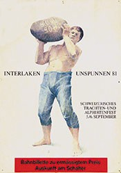 Monogramm FE - Interlaken Unspunnen