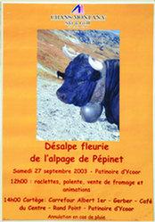 Anonym - Désalpe fleuri de l'alpage de Pépine